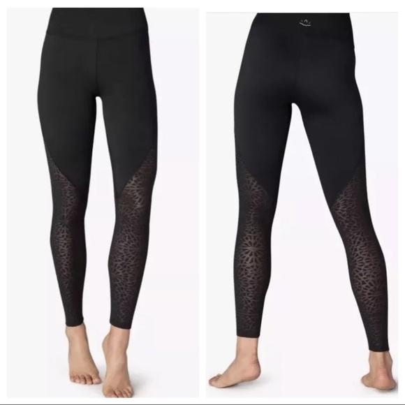 9881f6ba22 Beyond Yoga Pants - BEYOND YOGA   Black Lace High Rise Legging